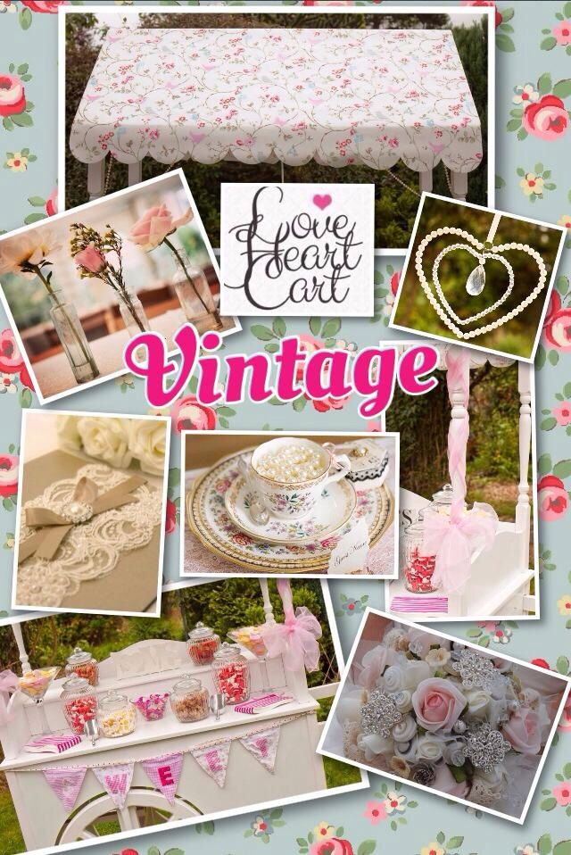Vintage Wedding Inspiration Board by www.facebook.com/loveheartcart