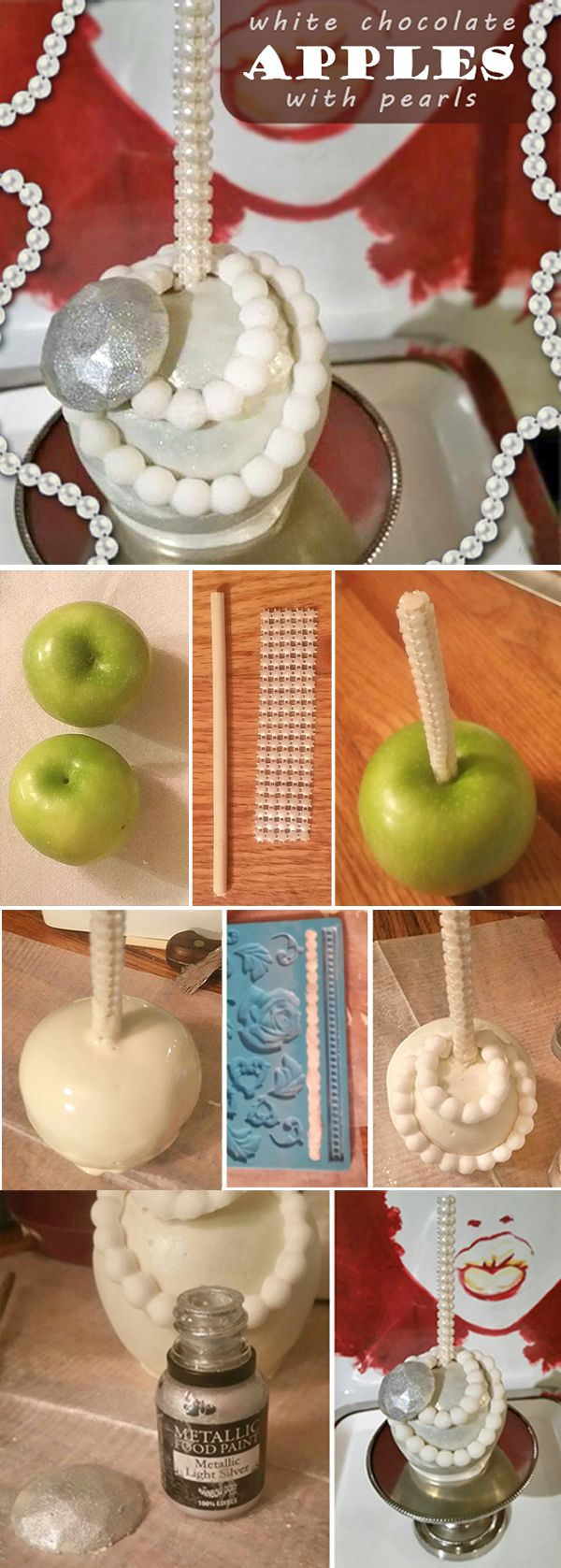 Gorgeous chocolate-covered apples! Learn step-by-step how to turn apples into edible works of art. by @treatsbytisha