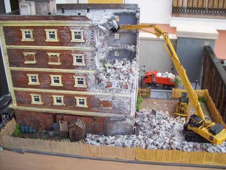 Demolition diorama general topics dhs forum diorama for Scale model ideas