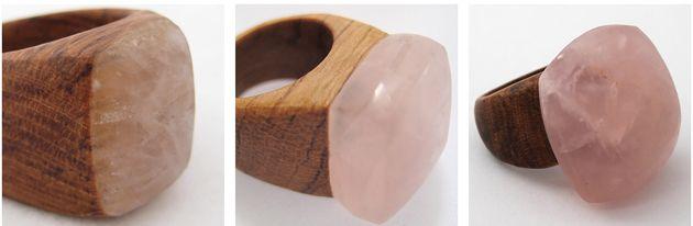 rose quartz rings - nga waiata
