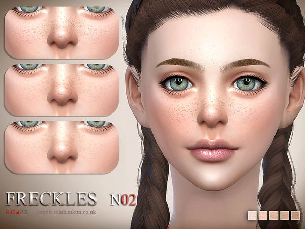 S Club Ll Ts4 Freckles 02 Sims The Sims Sims 4 Conteudo Personalizado