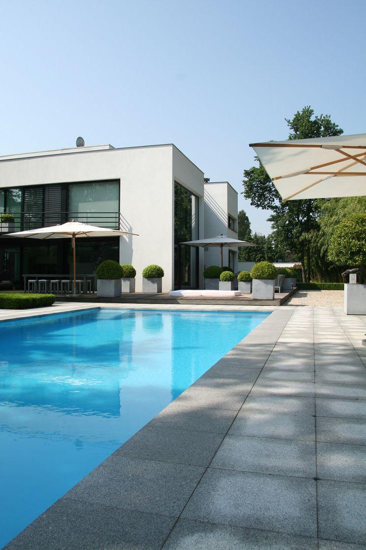 Lab32 architecten | moderne eigentijdse architectuur | Ontwerp villa Barbier te Lanaken, moderne eigentijdse villa.