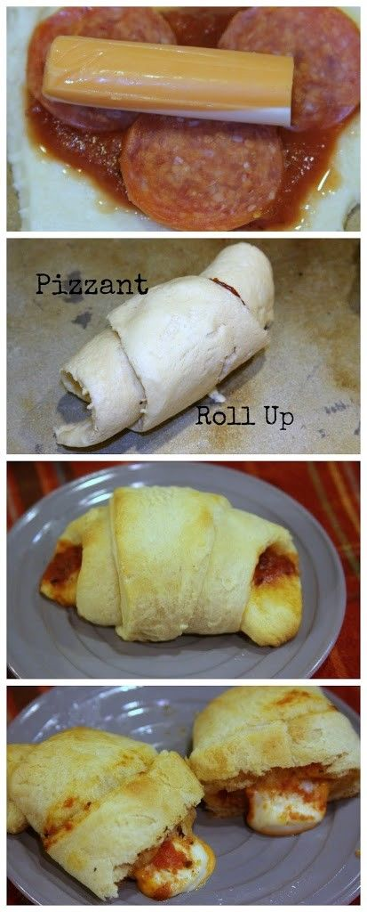 Pizzants- Easy Pizza Croissants :http://www.asparkleofgenius.com/pizzants-easy-pizza-croissants/