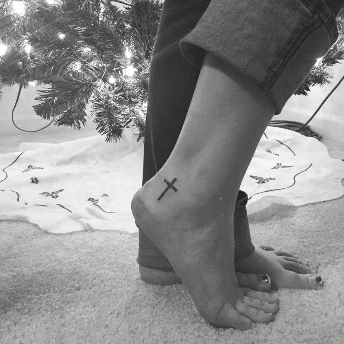 best 25 ankle tattoo cross ideas on pinterest cross