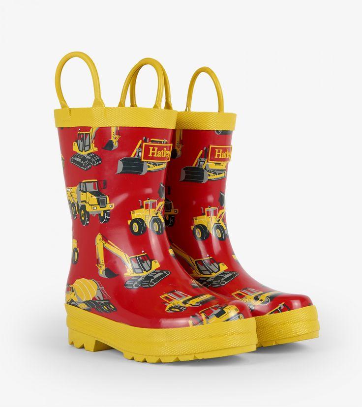 Hatley Boys' Rain Boots Heavy Duty Machines