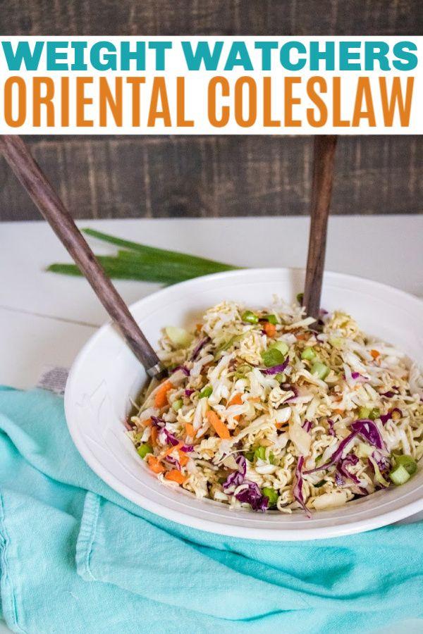 Weight Watchers Oriental Coleslaw Salad