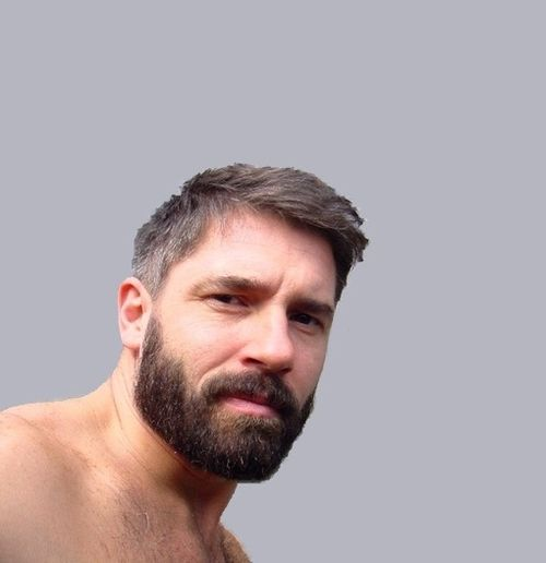 Hardcore facial hair gay men