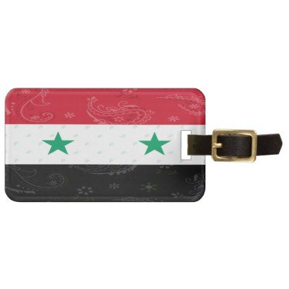 Syria Flag Luggage Tag - accessories accessory gift idea stylish unique custom