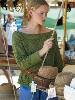 Sicily - free crochet slash-necked sweater pattern by Marie Wallin for Rowan. Free registration required.