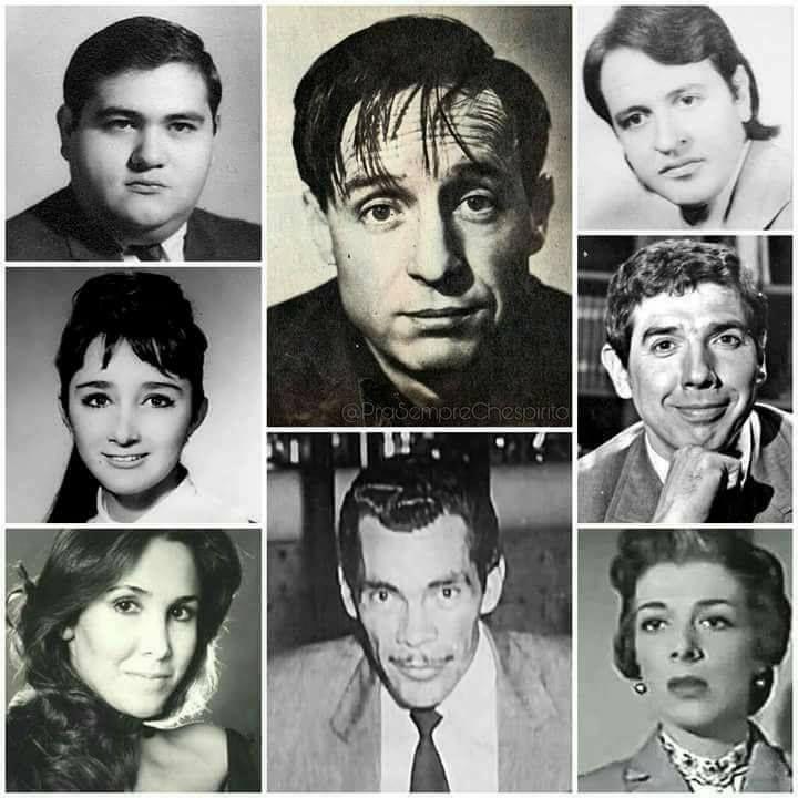 El Chavo, el Señor Barriga, el Quico, la Chilindrina, el Profesor Jirafales, Doña Florinda, Don Ramón y la Bruja del 78.