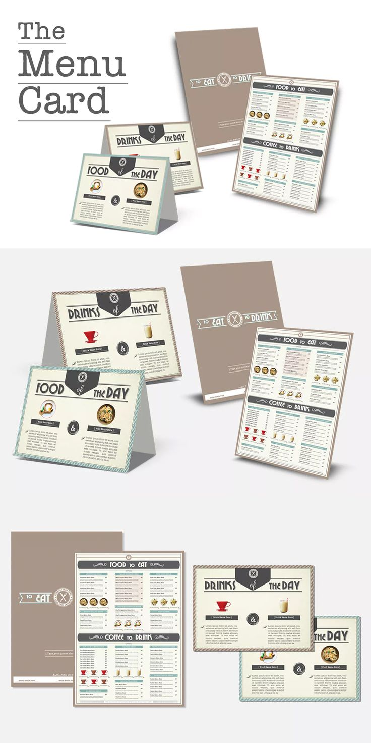 Best Food Menu Templates Images On   A Food Menu