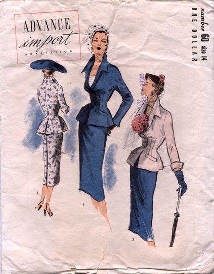 Advance 60 Suit | 1950s Advance Import Adaptation pattern