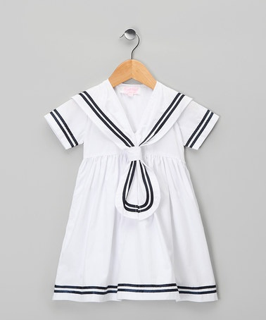 White Emma Dress: Sailors Dresses, Kids Stuff, Toddler Girls, Powell Crafts, Easter Dresses, Toddlers Girls, White Emma, Baby Girls, Daily Deals