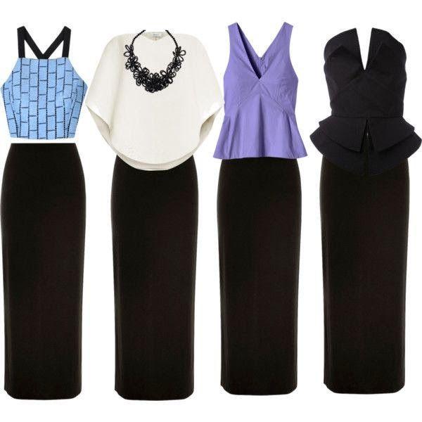 La Chica Bien: Combinando una maxi falda negra