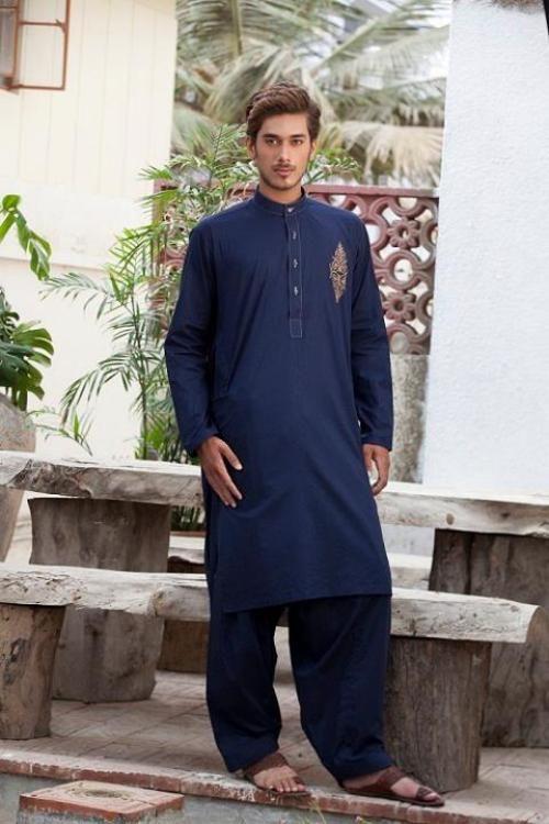 Deepak & Fahad Stylish Men's Wear Kurta Eid Collection 2012_01