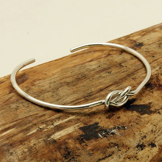 Andea Sterling Infinity Cuff Half Bangle - Intricately designed