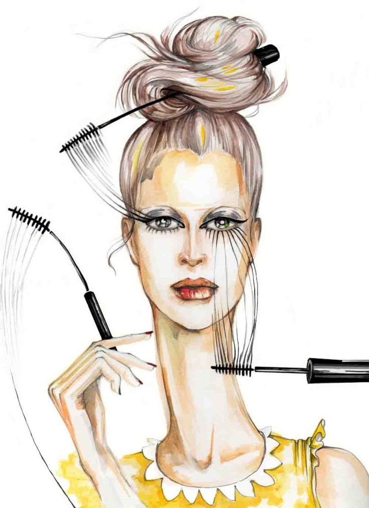 fashion illustrations elena sofia tinis: Too Much Makeup, Inspiration, Dennings, Elena Sofia Tiny 744X1024, Flowers, Painting, Art Visuai, Fashion Illustrations, Fashion Sketch