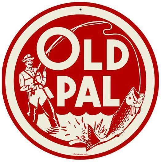 Vintage Retro Old Pal Bass Fishing Tackle Metal Sign Unique Wall Decor RPC073