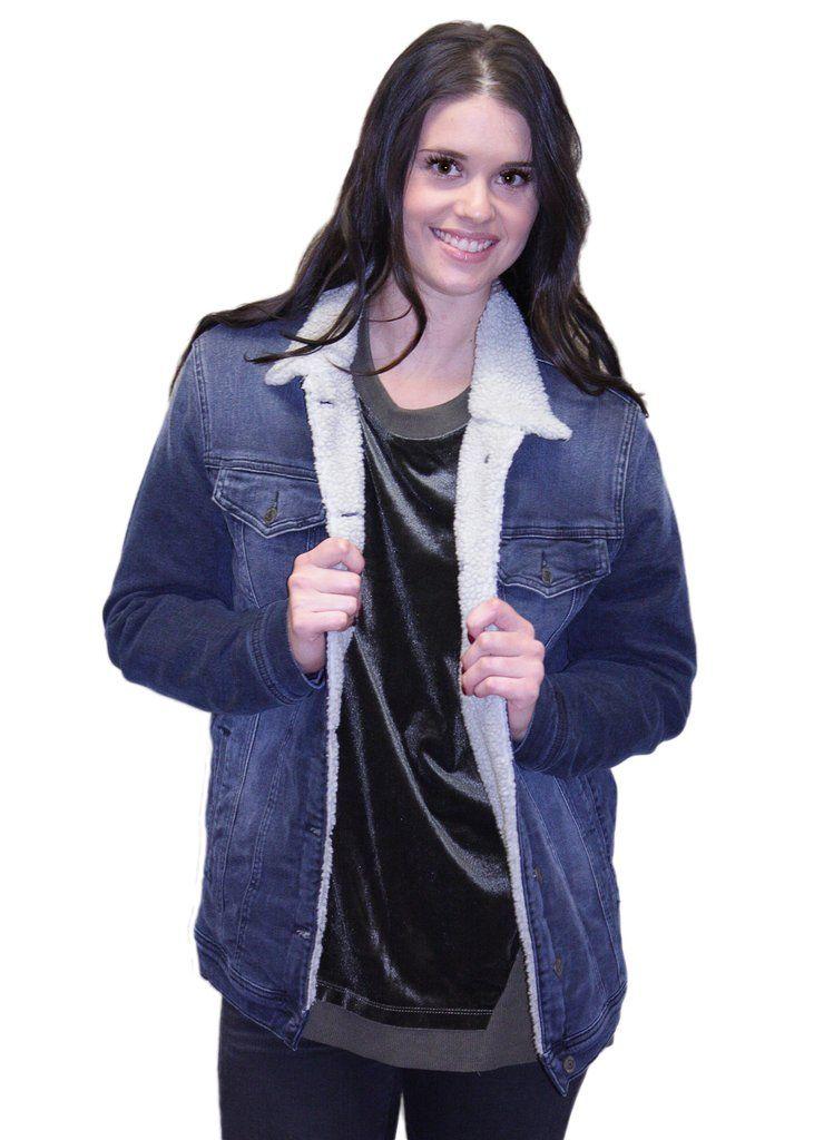 Mavi Jill Faux Fur Boyfriend Jacket