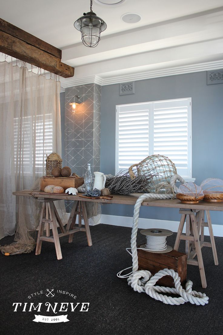Nautical inspired interiors by stylist Tim Neve for the Beach Hotel, Newcastle - Functions Level, Now Open.