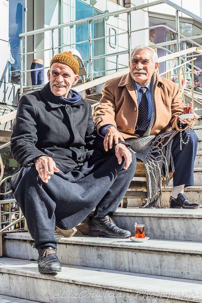 Tea drinkers in Aksaray, Istanbul