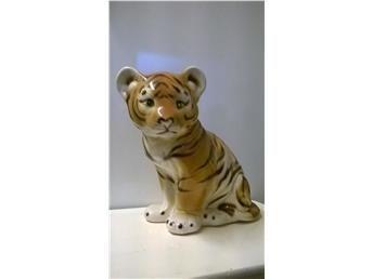 Felfri STOR Tiger figurin tigerunge Stämpel i botten H-29 cm