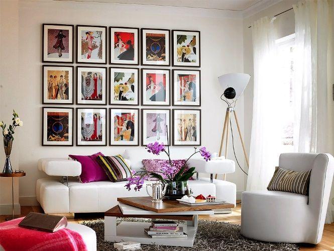 Composição de quadros na parede Ideias legais para fazer na sua casa 6