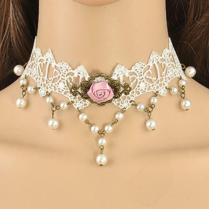 Nueva gargantilla victoriana en blanco  http://moda.bioargannature.com/shop/complementos-moda-collar-pulsera-pendientes/gargantilla-victoriana-encaje-en-blanco-con-rosa/  ENVIO GRATIS! Descubre más: www.vestidosyzapatos.es
