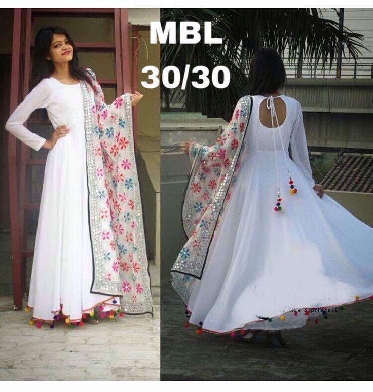 Anarkali Salwar kameez Indian Designer Bollywood Pakistani Suit Dress SM MBL #FashionBazar #DesignerDress #Party