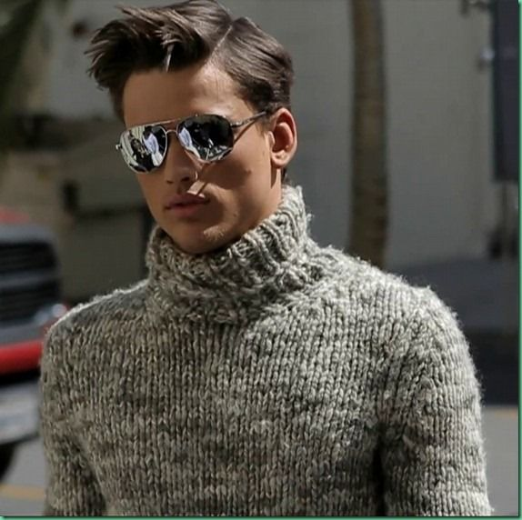 Mens Mock Turtleneck Sweater