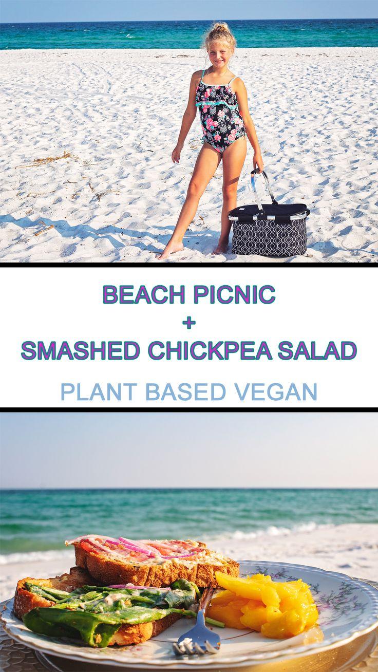 Beach Picnic + Smashed Chickpea Salad
