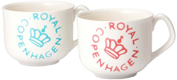 Royal Copenhagen ROYALCOPENHAGEN ニューシグネチャー スープカップペア(ピンク&ブルー) / Pair of Soup Cups on ShopStyle
