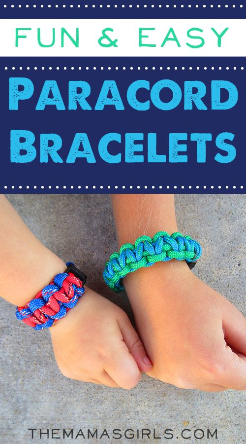 "Fun and Easy Paracord Bracelets----It is a great activity for kids eight years and older. If they are any younger than that, be prepared to ""help"" them"