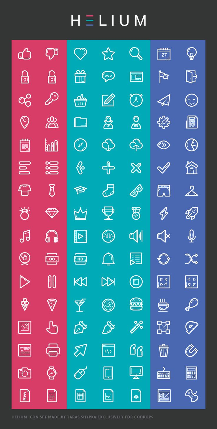 A free icon set with more than 100 useful app icons designed by Taras Shypka. The set comes with AI, EPS and SVG files and a ready-to-use icon font.