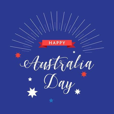 australia day flag vector