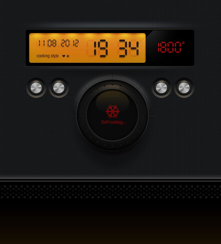Microwave Oven UI Design by ~iZZYMedia on deviantART