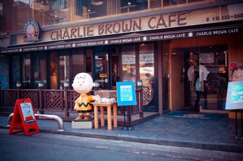 Charlie Brown Cafe in Hongdae