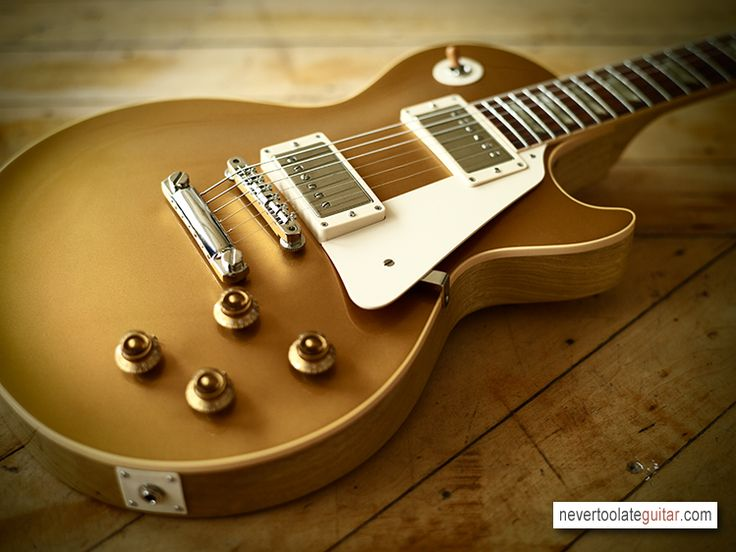 Another of the prestigious electric guitars- the Gibson Les Paul. This one is the Korina Goldtop 1957.