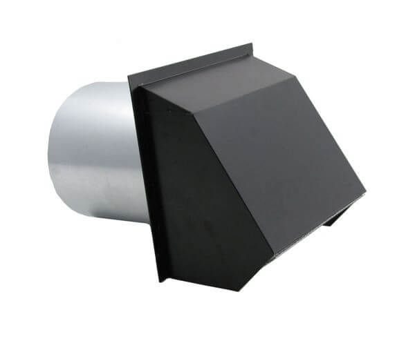 Hooded Wall Vent With Spring Loaded Damper Gasket And Screen Painted Wall Vents Screen Painting House Ventilation