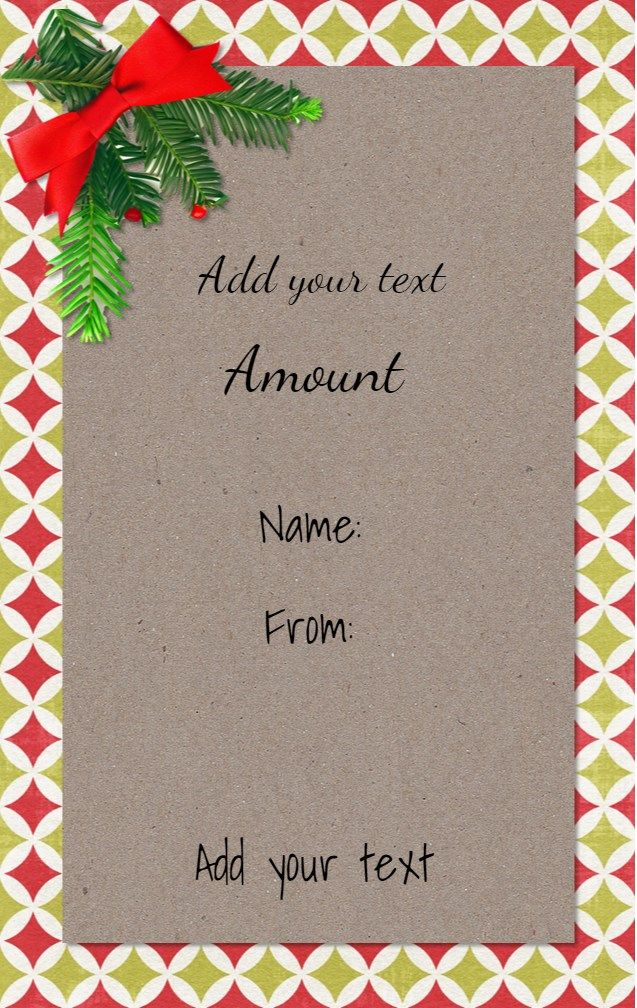 52 best Christmas Gift Certificates images on Pinterest To - christmas gift vouchers templates