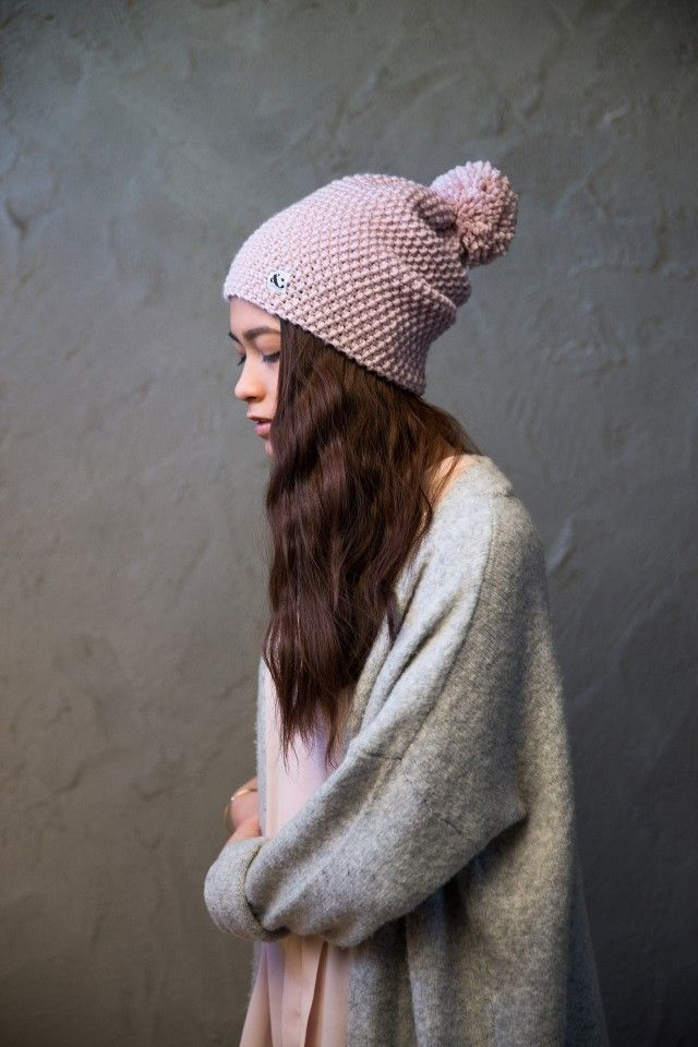 """Pretty Pink"" - BEANIE PomPom by Scandinavian Kally & Birger Knitwear - Nordic Design Collective"
