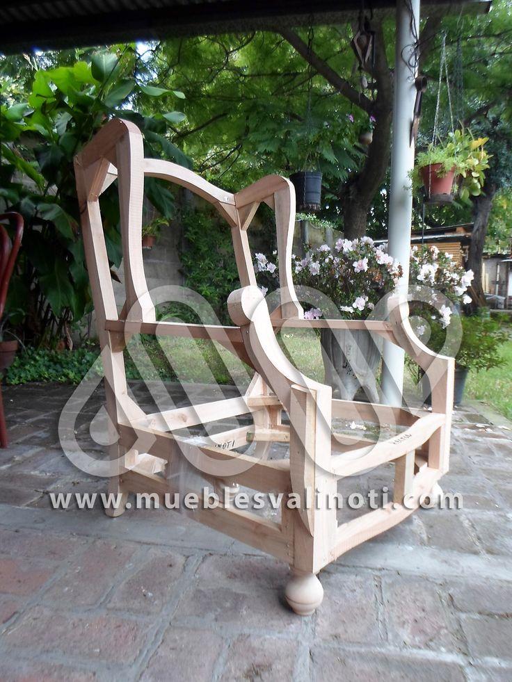 Armazón sillón 1 cp berger con patas Nº 7 en guindo.  mail: muebles_valinoti@yahoo.com.ar web: www.mueblesvalinoti.com https://www.facebook.com/mueblesvalinoti https://es.pinterest.com/mueblesvalinoti/