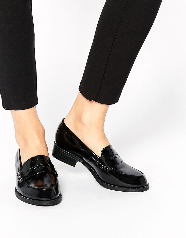 Image 1 ofNew Look Wide Fit Leicester Chunky Loafer Flat Shoes