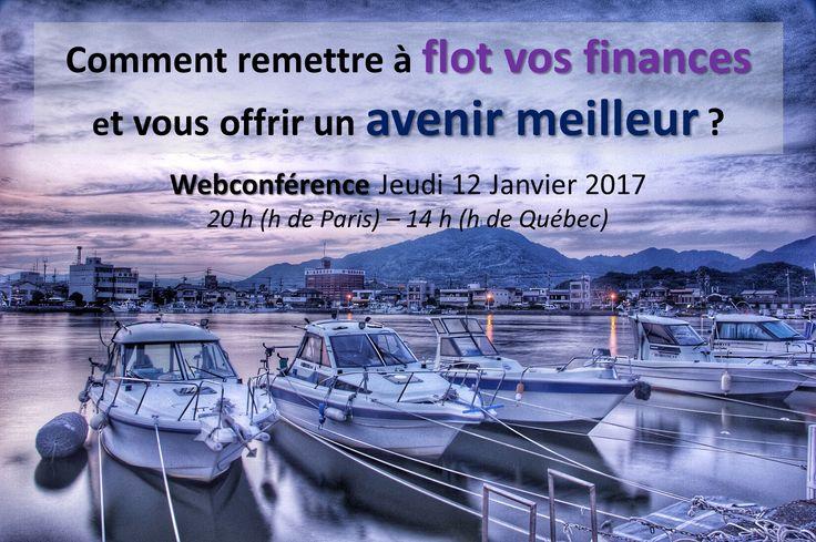 💰 Comment sortir de l'impasse financière en 2017 avec Nathalie Cariou comme coach ?  Nathalie vous invite à une conférence en ligne sur le thème : « Comment remettre à flot vos finances et enfin vous offrir un avenir meilleur ?».  Elle se déroulera le Jeudi 12 Janvier 20 h (h de Paris) – 14 h (h de Québec), il vous suffit simplement de vous inscrire ici http://sortezdelimpasse.com/go-webinaire?a_aid=ValerieP et c'est GRATUIT !  #endettement #abondance #finances #argent #succès #réussite