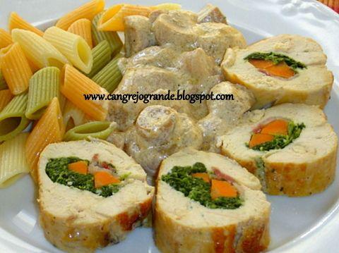 CANGREJO   GRANDE: Receta de Microondas. Pollo Relleno con Crema de C...