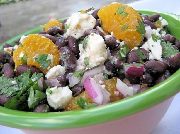 Mandarin and black bean salad