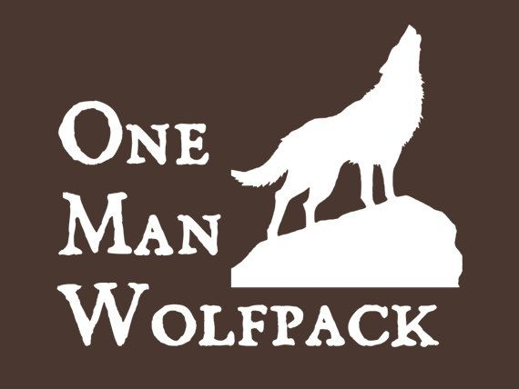 FUNNY TSHIRT one man wolf pack cool nerd geek by 9dollartshirts