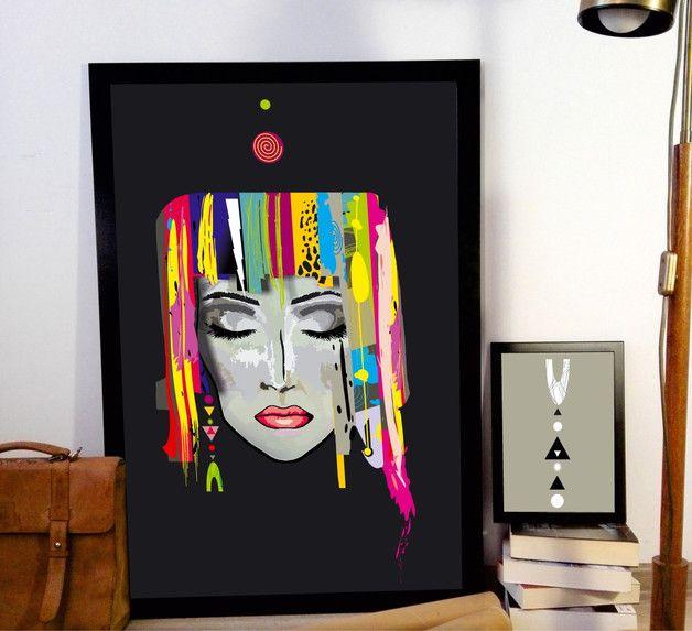 PLAKAT PODRÓŻNICZKA 50X70 abstrakcja - ARTT - Wydruki cyfrowe