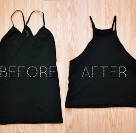 DIY halter top from an old tank