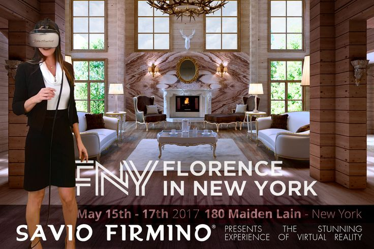 Florence in New York: from 15th to 17th May we are going to present a stunning experience of SAVIO FIRMINO's virtual reality. Come and visit us, we are looking forward to welcoming you!